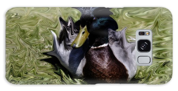 Liquid Mallard Galaxy Case by Donna Greene