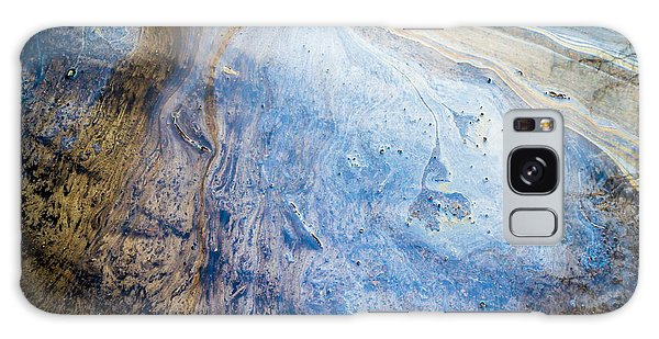 Liquid Oil On Water With Marble Wash Effects Galaxy Case