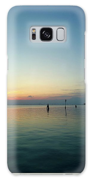 Galaxy Case featuring the photograph Liquid Sunset by Anne Kotan