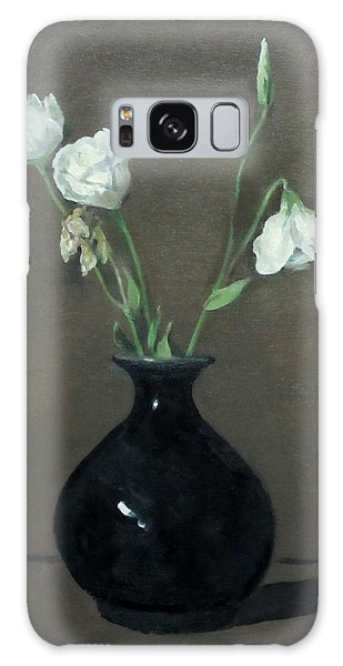 Lisianthus In Black Chinese Vase Galaxy Case