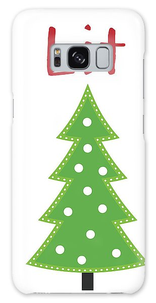 Holiday Galaxy Case - Lit Christmas Tree- Art By Linda Woods by Linda Woods