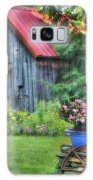 English Countryside Galaxy Case - The Country Cottage Garden  by T-S Fine Art Landscape Photography
