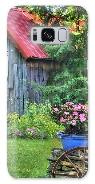 The Country Cottage Garden  Galaxy Case