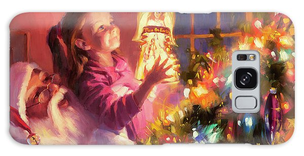 Galaxy Case featuring the painting Little Angel Bright by Steve Henderson