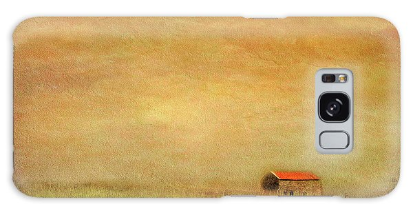 Galaxy Case featuring the photograph Little Barn On The Hill by Wallaroo Images