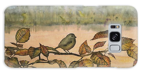 Little Bird On A Branch Galaxy Case by Carolyn Doe