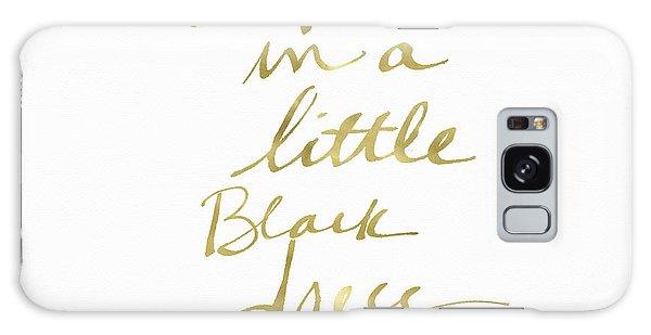 Dress Galaxy Case - Little Black Dress Gold- Art By Linda Woods by Linda Woods