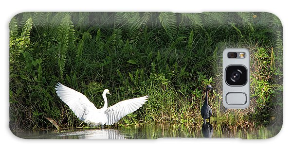 Little Blue Heron Non-impressed Galaxy Case
