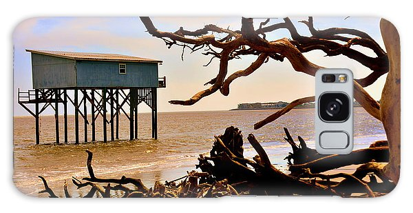 Hunting Island Galaxy Case - Little Blue Hunting Island State Park Beaufort Sc by Lisa Wooten