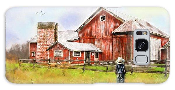 Little Boy On The Farm Galaxy Case