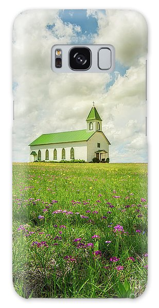 Little Church On Hill Of Wildflowers Galaxy Case by Robert Frederick
