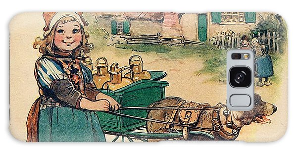 Little Dutch Girl With Milk Wagon Galaxy Case