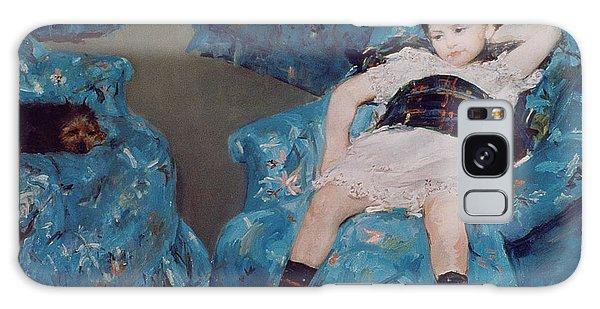Crt Galaxy Case - Little Girl In A Blue Armchair by Mary Stevenson Cassatt