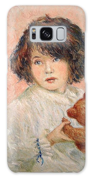 Little Girl With Bear Galaxy Case by Pierre Van Dijk