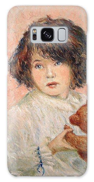 Little Girl With Bear Galaxy Case