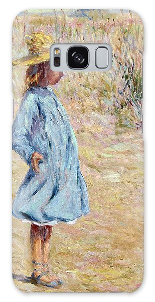 Little Girl With Blue Dress Galaxy Case