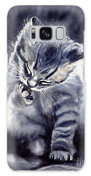 Fairy Galaxy S8 Case - Little Grey Cat by Suzann's Art