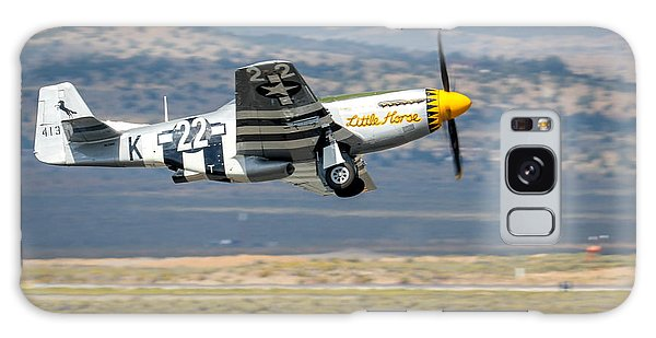 Galaxy Case featuring the photograph P51 Mustang Little Horse Gear Coming Up Friday At Reno Air Races 5x7 Aspect Signature Edition by John King