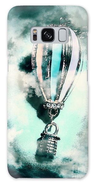 Pendant Galaxy Case - Little Hot Air Balloon Pendant And Clouds by Jorgo Photography - Wall Art Gallery