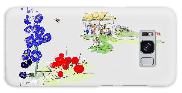 Little House And Garden Galaxy Case