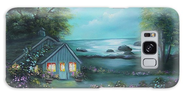 Little House By The Sea Galaxy Case