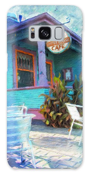 Little House Cafe  Galaxy Case by Linda Weinstock