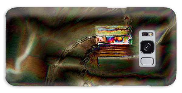 Little House On The Abstract Prairie Galaxy Case by Paula Ayers