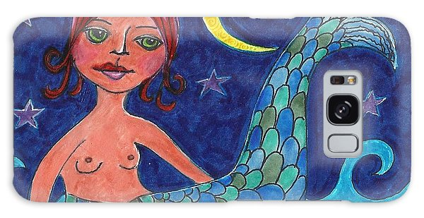 Little Mermaid Galaxy Case by Lisa Noneman