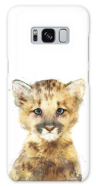 Little Mountain Lion Galaxy Case by Amy Hamilton
