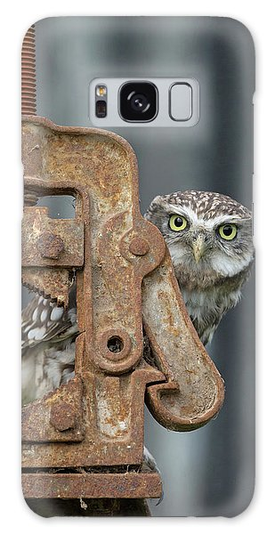 Little Owl Peeking Galaxy Case