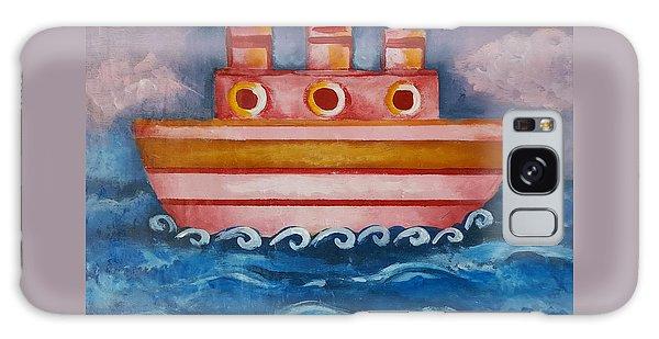 Little Pink Ship Galaxy Case by Rita Fetisov
