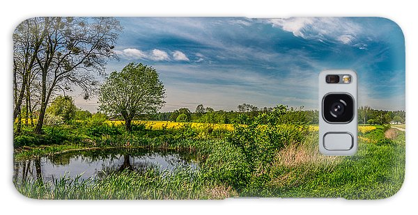 Little Pond Near A Rapeseed Field Galaxy Case