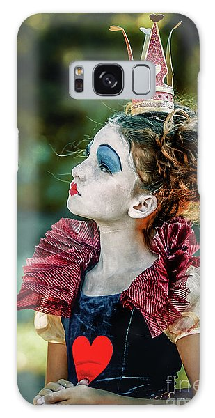 Galaxy Case featuring the photograph Little Princess Of Hearts Alice In Wonderland by Dimitar Hristov