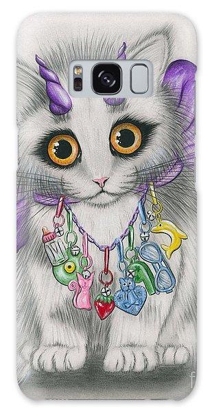 Little Purple Horns - 1980s Cute Devil Kitten Galaxy Case