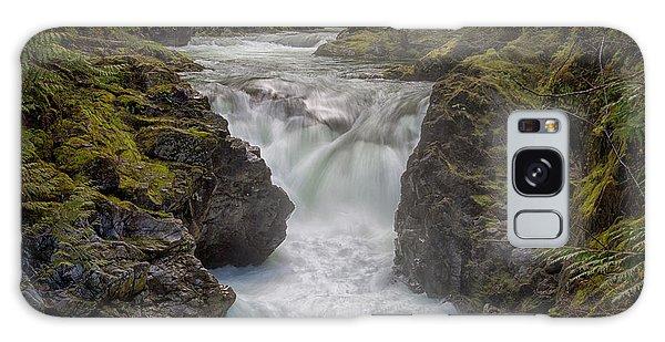 Little Qualicum Lower Falls Galaxy Case by Randy Hall