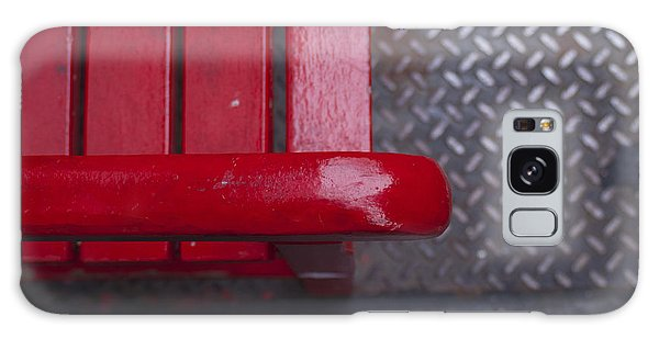 Little Red Bench Galaxy Case by Henri Irizarri