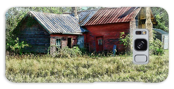 Little Red Farmhouse Galaxy Case by Paul Ward