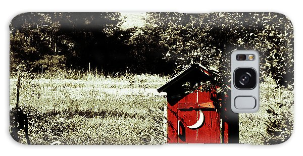 Little Red Outhouse Galaxy Case