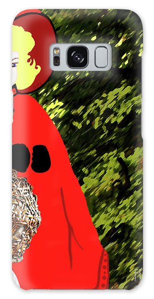 Little Red Riding Hood In The Forest Galaxy Case by Marian Cates
