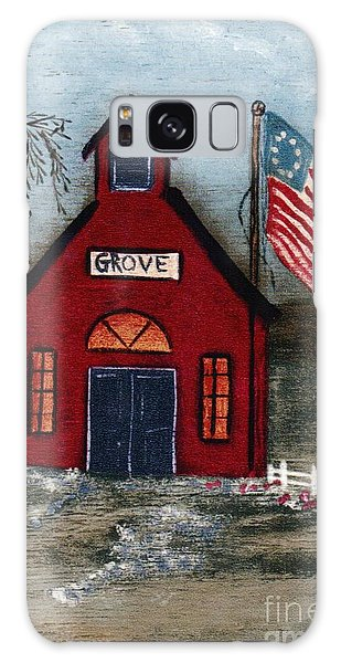 Little Red Schoolhouse Galaxy Case