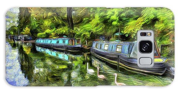 Swan Boats Galaxy Case - Little Venice London Art by David Pyatt