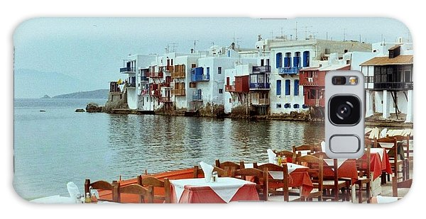 Little Venice On Mykonos Galaxy Case by Peter Mooyman
