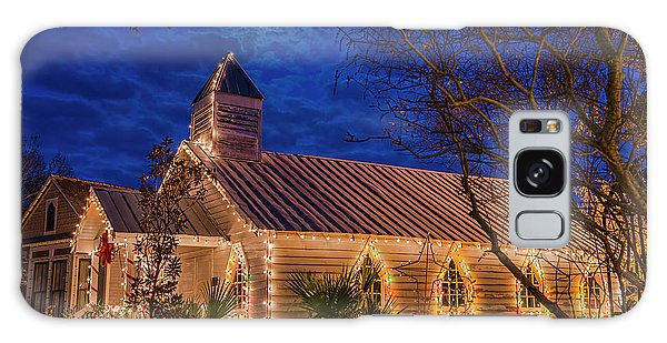 Little Village Church With Star From Heaven Above The Steeple Galaxy Case by Bonnie Barry