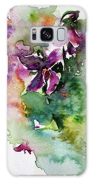 Little Violet Galaxy Case by Kovacs Anna Brigitta