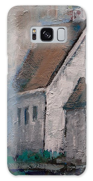 Little White Church On The Corner Christian Painting  Galaxy Case