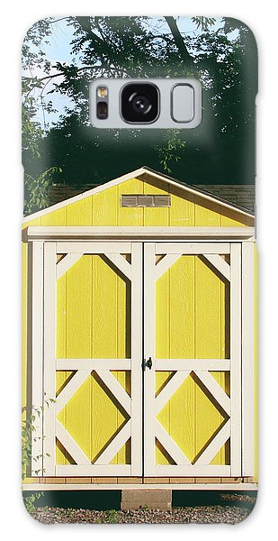 Shed Galaxy Case - Little Yellow Barn- By Linda Woods by Linda Woods