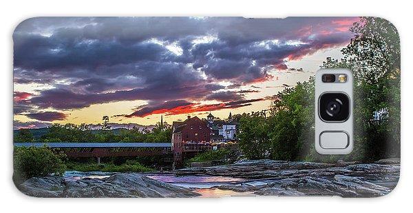 Littleton Sunset On The Rocks Galaxy Case