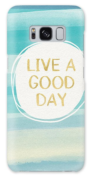 Art Nouveau Galaxy Case - Live A Good Day- Art By Linda Woods by Linda Woods