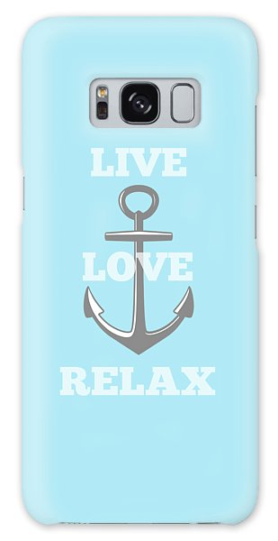Live Love Relax - Customizable Color Galaxy Case