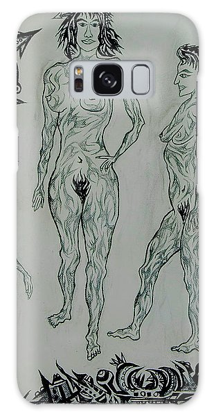 Live Nude 41 Female Galaxy Case by Robert SORENSEN